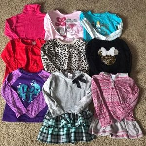 Lot of 4t long sleeve shirts